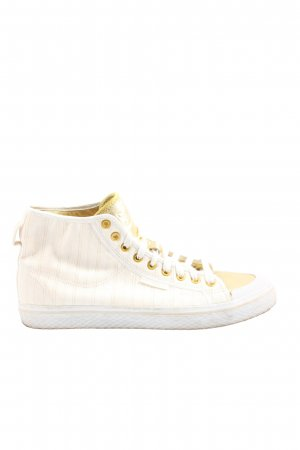 Adidas High Top Sneaker wollweiß-goldfarben Casual-Look
