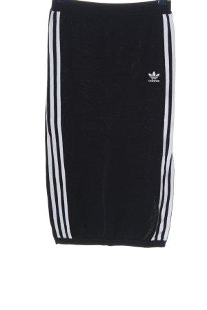 Adidas Spódnica z wysokim stanem czarny-biały W stylu casual