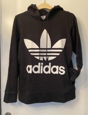 Adidas Sweter z kapturem czarny-biały
