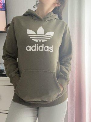 Adidas Sweter z kapturem khaki