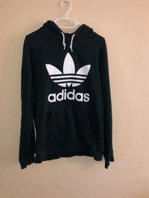 Adidas Originals Sweter z kapturem ciemnozielony-biały
