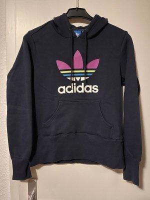 Adidas Sudadera con capucha azul oscuro