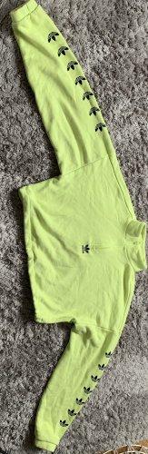 Adidas Top met rolkraag weidegroen-zwart