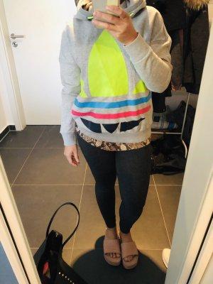 Adidas Originals Capuchon sweater lichtgrijs