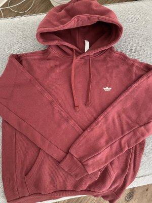 Adidas Hooded Sweater dark red