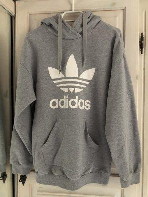 Adidas Felpa con cappuccio grigio chiaro-grigio
