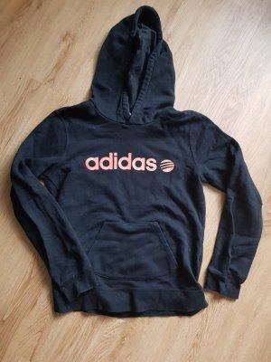 Adidas Sweter z kapturem czarny-pomarańczowy neonowy