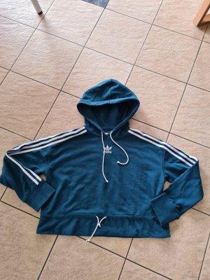 Adidas Sweter z kapturem petrol-morski