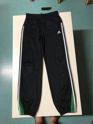 Adidas Pantalone fitness nero-verde