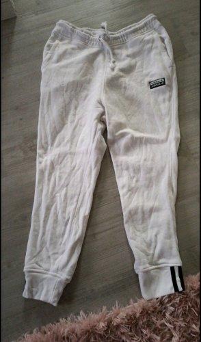 Adidas Pantalone jersey bianco-nero
