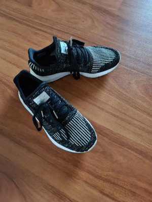 Adidas Lace-Up Sneaker black-silver-colored
