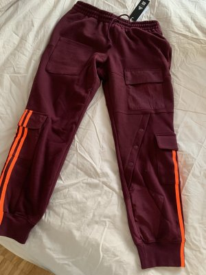 Adidas Originals Sportbroek bordeaux-neonoranje