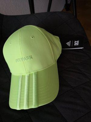 Adidas Gorra de béisbol verde neón