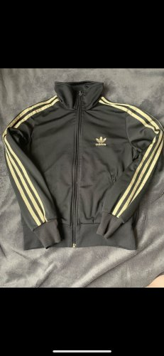 Adidas Sports Jacket black-gold-colored