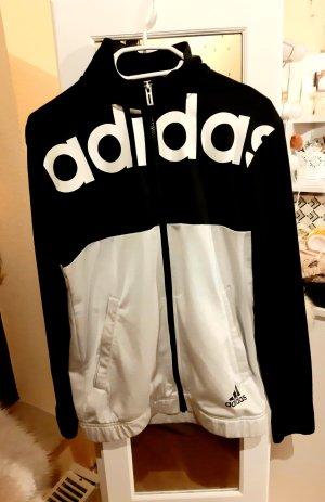 Adidas Veste polaire blanc-noir