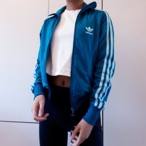 Adidas Sweat Jacket petrol-cadet blue