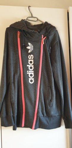 Adidas Giacca in pile grigio scuro-rosa