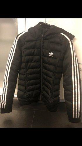 Adidas Chaqueta de plumón negro-blanco