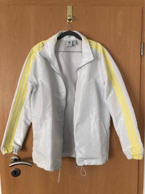 Adidas Kurtka oversize biały-żółty