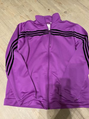 Adidas Giacca sport nero-lilla