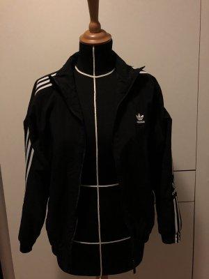 Adidas Kurtka oversize czarny-biały