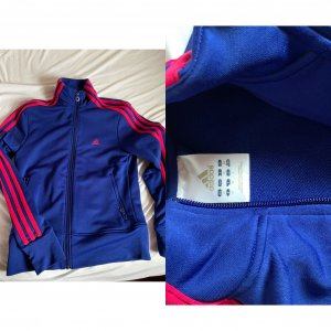 Adidas Originals Sportjack blauw