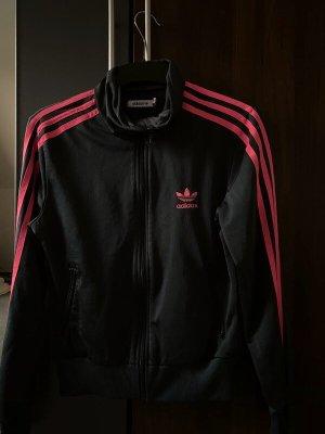 Adidas Veste de sport gris anthracite-rouge framboise