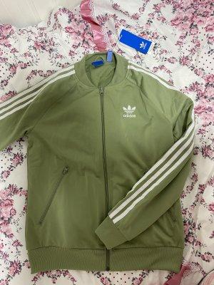 Adidas Originals Krótka kurtka biały-khaki
