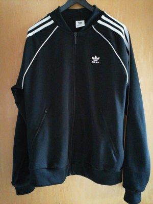 Adidas Sweat Jacket white-black polyester