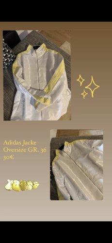 Adidas Kurtka oversize biały-żółty neonowy