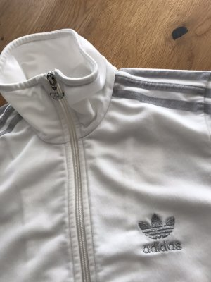 Adidas Giacca sport bianco-argento