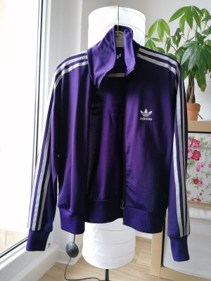 Adidas Originals Veste en tricot gris clair-violet foncé