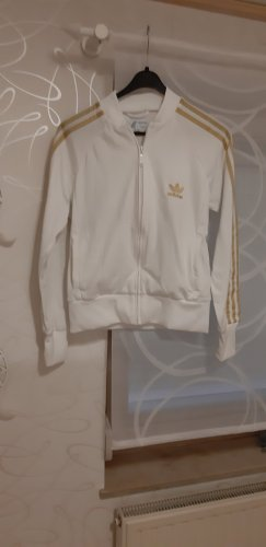 Adidas Sports Jacket white-gold-colored polyamide