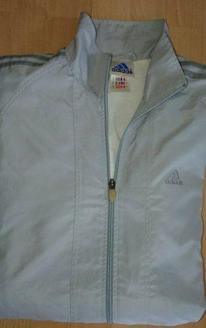 Adidas Jacke, Gr. XL, Grau, Streifen, Leicht, Klassik, Vintage