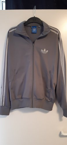 Adidas Sports Jacket silver-colored-grey polyester