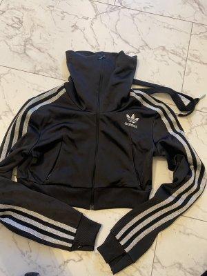 Adidas Originals Blouse Jacket black-silver-colored