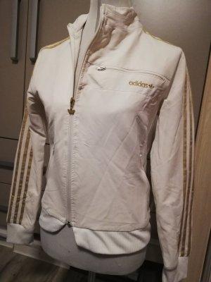 Adidas Jacke Sportjacke weiß gold Gr. M 38