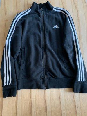 Adidas Chaqueta de tela de sudadera negro-blanco