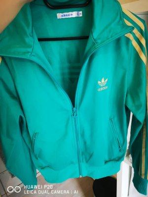 Adidas Chaqueta deportiva color oro-turquesa