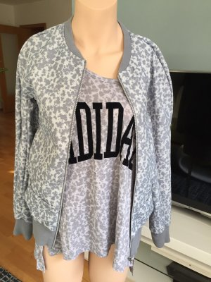 Adidas Jacke und Shirt 36 S grau Damen