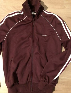 Adidas Giacca college bordeaux-bianco