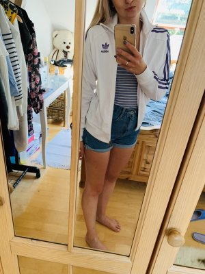 Adidas Blouse Jacket white-lilac cotton
