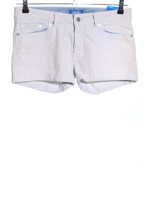 Adidas Pantalón corto de tela vaquera blanco-gris claro look casual