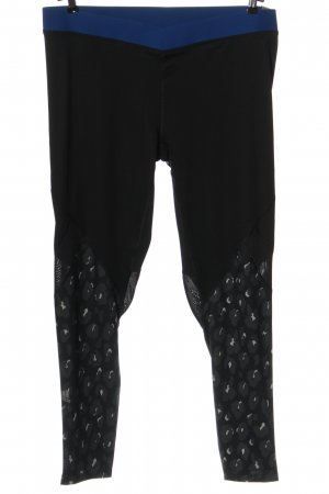 Adidas Sporthose schwarz abstraktes Muster Casual-Look