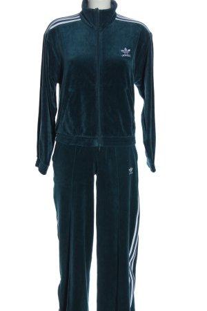 Adidas Ensemble en jersey bleu lettrage brodé style décontracté