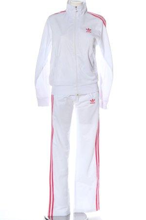 Adidas Podwójny zestaw z dżerseju biały-różowy Sportowy styl