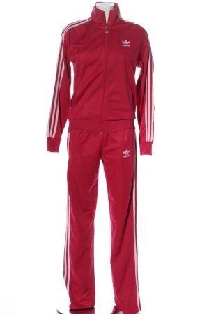 Adidas Podwójny zestaw z dżerseju czerwony Sportowy styl