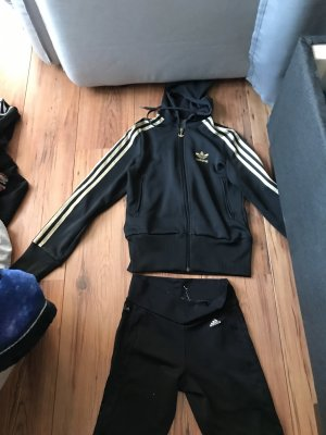 Adidas Trouser Suit black-gold-colored