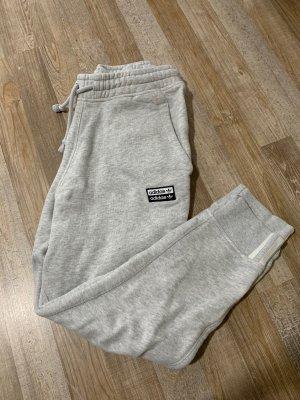 Adidas Originals Pantalon de sport gris clair-blanc