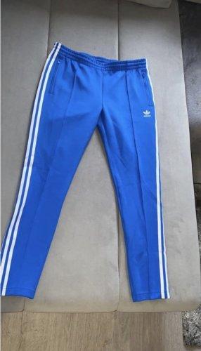 Adidas Jeggingsy niebieski-biały